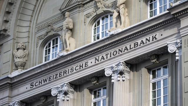 Fassada da la Banca naziunala svizra.