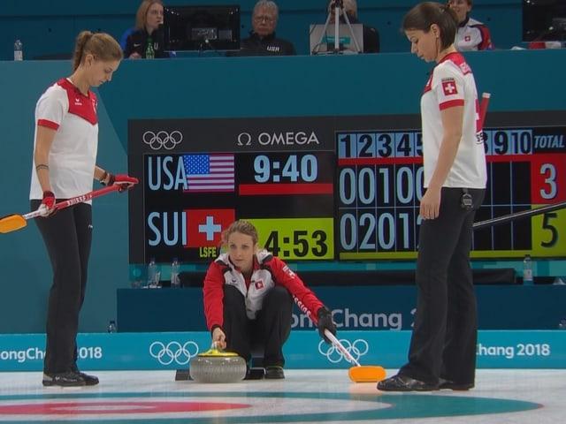 Die Schweizerinnen in Aktion.
