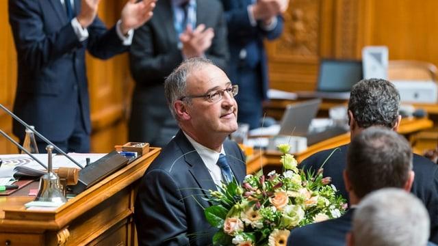 Guy Parmelin bei seiner Wahl 2015 im Nationalrat