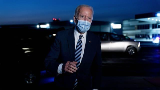 Joe Biden mit Schutzmaske.