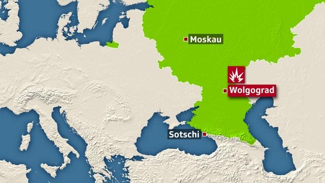 Karte Wolgograd