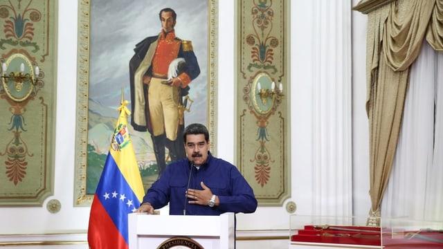Maduro an seinem Regierungssitz