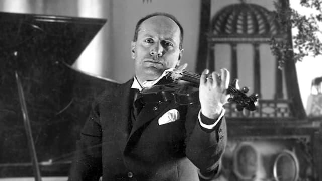 Förderte zeitgenössische Musik und griff auch gerne selbst zur Violine: Diktator Mussolini.
