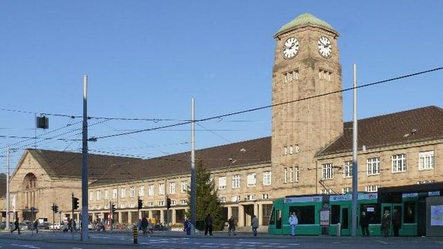 Frontansicht des Badischen Bahnhofs