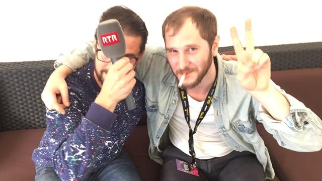 Action er tar RTR: Danilo Bavier (san.) cun Marco Michael Wanda (dre.).