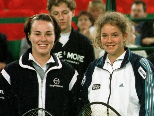 Die beiden Teenagerinnen Martina Hingis (links) und Patty Schnyder anno 1998.