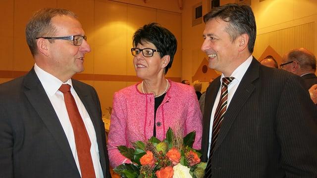 Alfred Bossard, Yvonne von Deschwanden und Hans Wicki