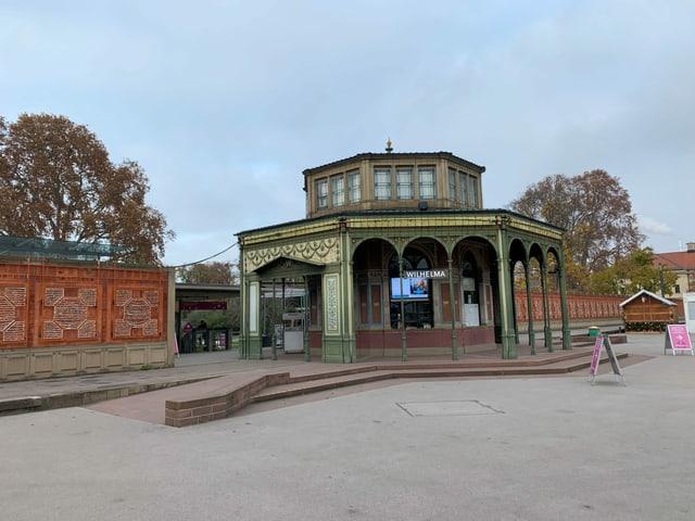 Eingang der botanischen Gärten in Stuttgart.