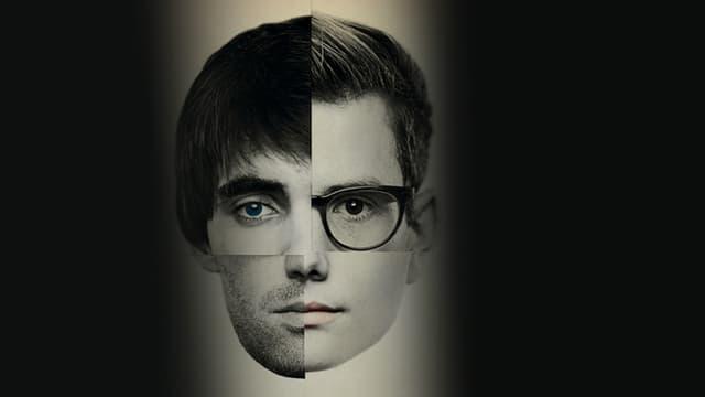 Zwei übereinandergelegte Schwarz-weiss Portraits zweier junger Männer