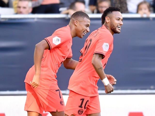 Neymar und der zuletzt verletzte Kylian Mbappé.