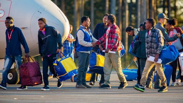 Flüchtlinge in Schweden