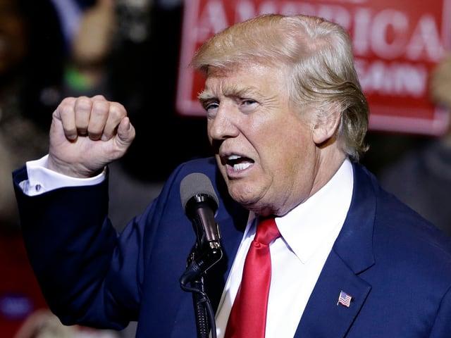 Donald Trump bei einer Wahlveranstaltung.