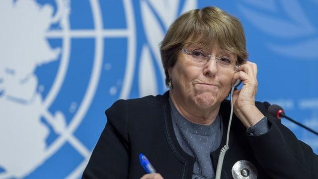 Michelle Bachelet im Porträt.