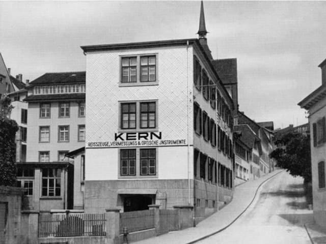 Die erste Fabrik von Kern am Ziegelrain in Aarau