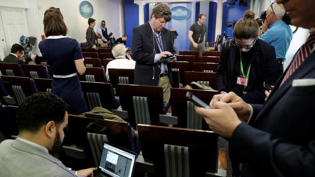 Journalisten im Weissen Haus