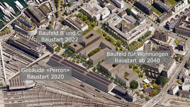 Übersicht über die geplanten Bauprojekte auf dem Areal Rösslimatt.