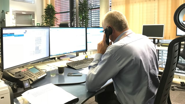 Scherrer in der SIS-Zentrale in Bern