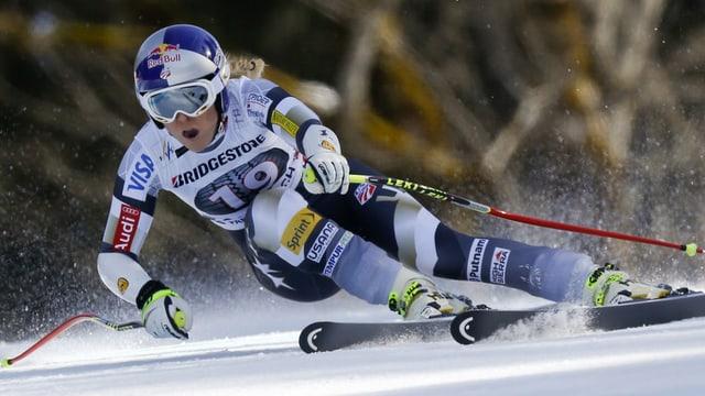 La skiunza Lindsey Vonn durant la cursa.