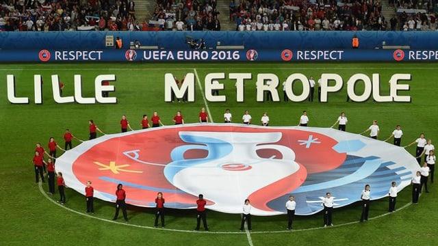 Il stadion da Lille durant la ceremonia d'avertura da la Euro 2016