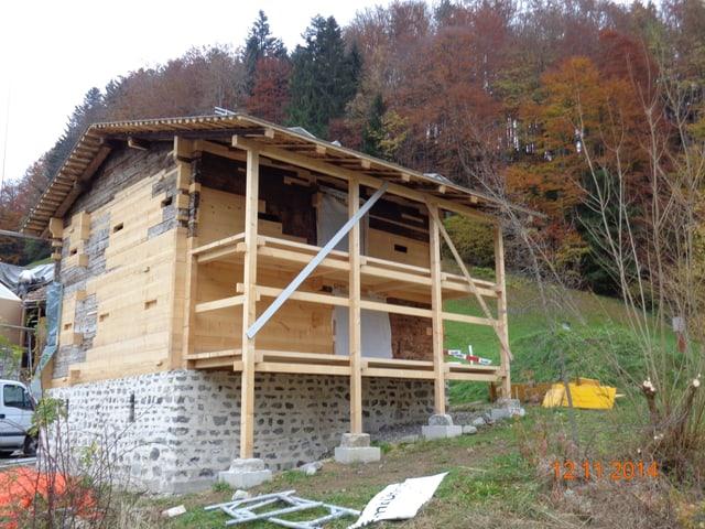 Das neu aufgebaute Niderösthaus.