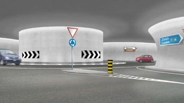 Visualisierung des Stadttunnels Zug.