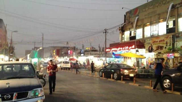 Leuchtreklame in Erbil