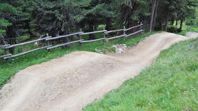 Ina pista da downhill.