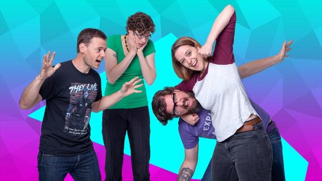 Jürg, Méline, Guido, Martina