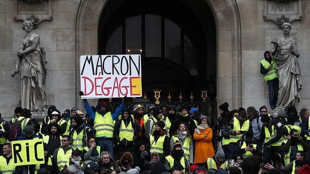 Demonstrants a Paris.