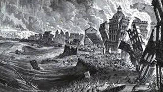 zerstörte Stadt Lissabon