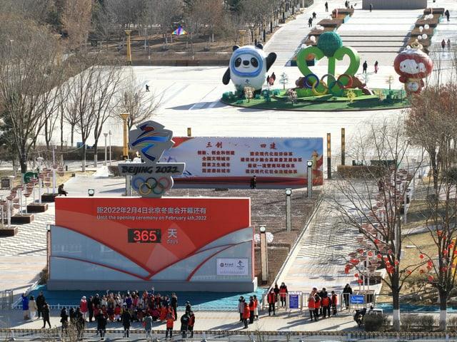 Zhangjiakou 365 Tage vor der Eröffnungsfeier.