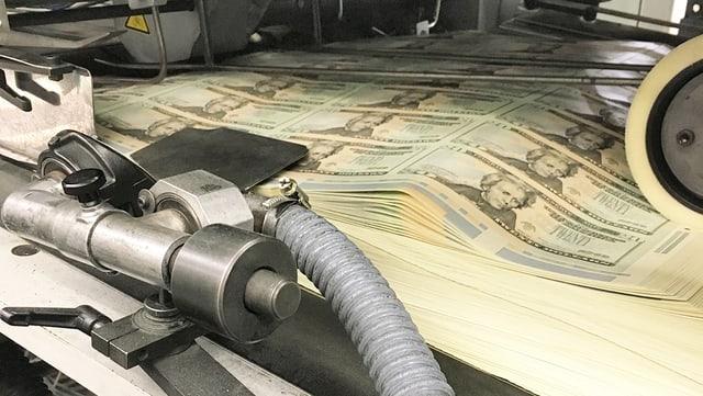 Dollar-Druckmaschine