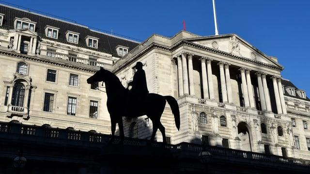 Aufnahme des Gebäudes der «Bank of England» in London.
