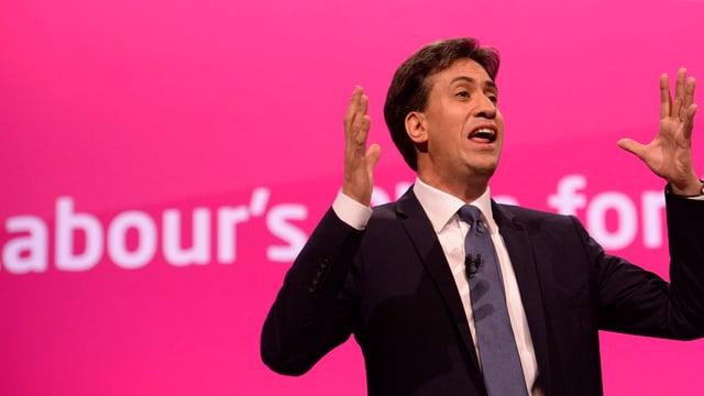 Labour-Chef Ed Miliband auf dem Parteitag in Manchester
