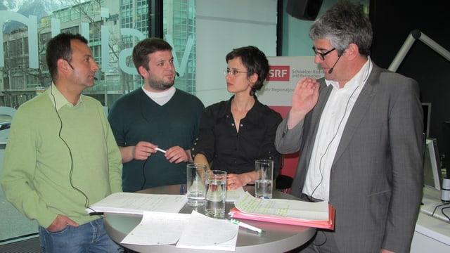 Parteipräsidenten im Gespräch mit Stefanie Hablützel.