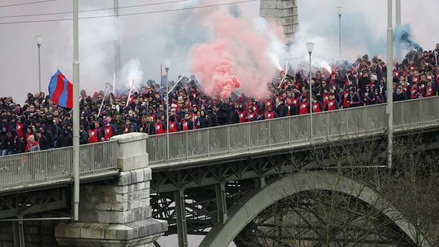 Die Basler Fans beim Cupfinal 2014 in Bern