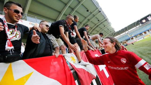 Die Thuner hatten in der bisherigen Europacup-Saison auch auswärts viel zu jubeln - wie hier Luca Zuffi in Göteborg.