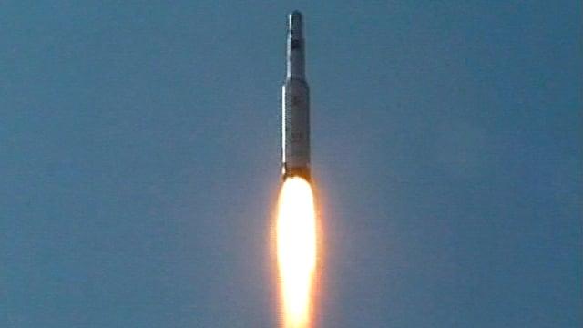 Eine Musudan-Rakete im Flug