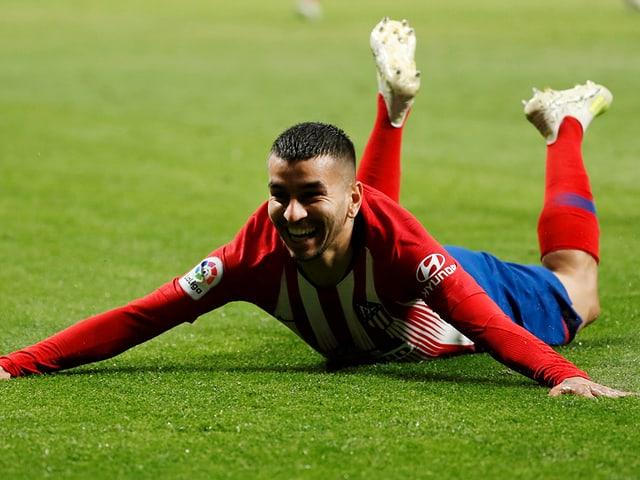 Angel Correa erzielte nach 81 Minuten das 3:2 für Atletico.