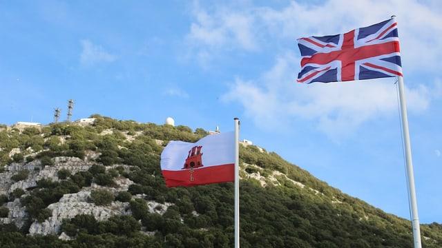 Bandiera Gibraltar e bandiera GB