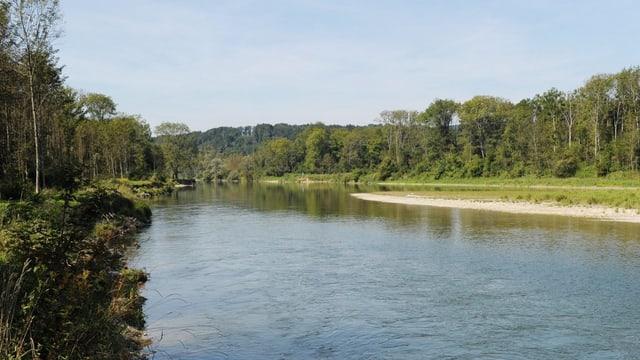 Bei Flaach mündet die Thur in den Rhein.