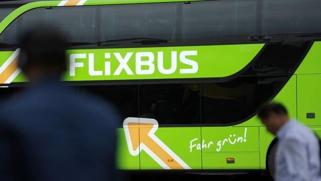 Flixbus, davor Passagiere.