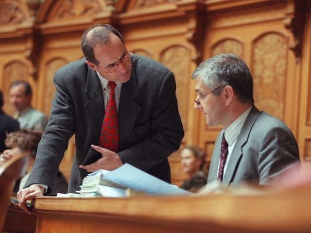 Claude Janiak im Parlament mit SVP-Mann Caspar Baader.