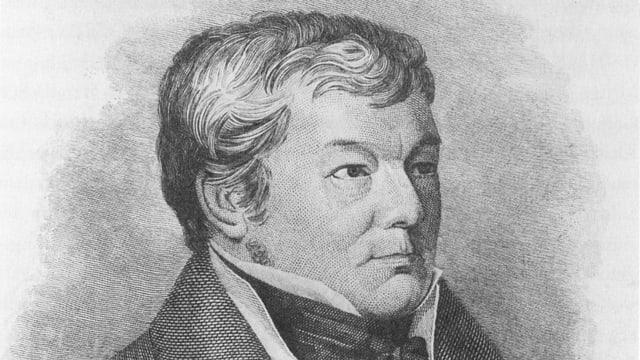 Zeichnung Porträt Heinrich Zschokke 1842