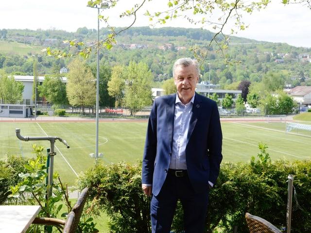 Fussballtrainer Ottmar Hitzfeld