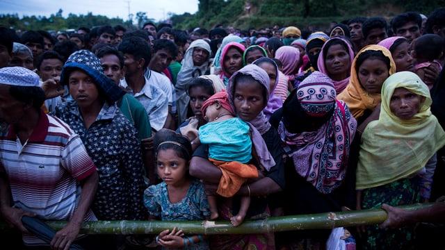 Rohingya-Frauen in einem Flüchtlingslager