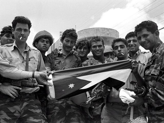 Jordanische Soldaten während des Sechstagekriegs.