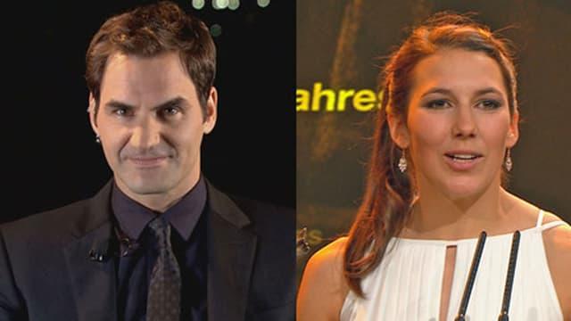 Ils victurs: Roger Federer e Wendy Holdenenr