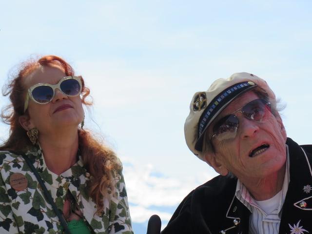 Polo Hofer und seine Frau Alice.