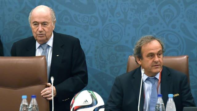 Il president da la FIFA Sepp Blatter ed il presidents da l'UEFA Michel Platini restan suspendids.